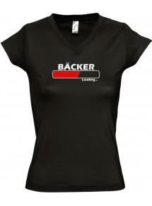 TOP sportlisches Ladyshirt mit V-Ausschnitt Bäcker Loading