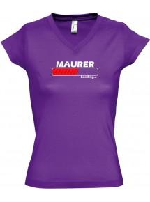 TOP sportlisches Ladyshirt mit V-Ausschnitt Maurer Loading