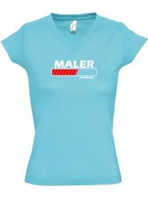 TOP sportlisches Ladyshirt mit V-Ausschnitt Maler Loading