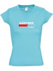TOP sportlisches Ladyshirt mit V-Ausschnitt Gärtner Loading