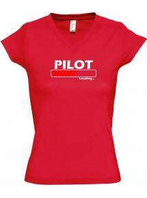 TOP sportlisches Ladyshirt mit V-Ausschnitt Pilot Loading