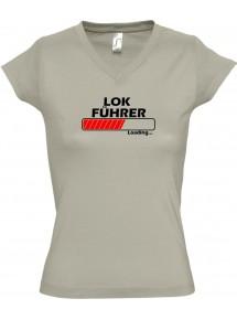 TOP sportlisches Ladyshirt mit V-Ausschnitt Lokführer Loading