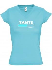 TOP sportlisches Ladyshirt mit V-Ausschnitt Tante Loading