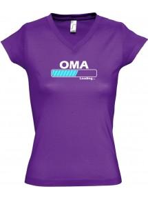 TOP sportlisches Ladyshirt mit V-Ausschnitt Oma Loading