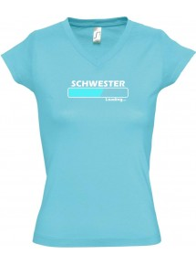 TOP sportlisches Ladyshirt mit V-Ausschnitt Schwester Loading
