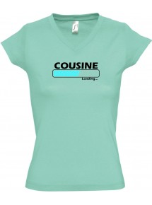TOP sportlisches Ladyshirt mit V-Ausschnitt Cousine Loading