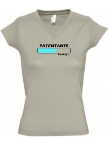 TOP sportlisches Ladyshirt mit V-Ausschnitt Patentante Loading