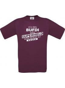 TOP Männer-Shirt Ich bin BUFDI, weil Superheld kein Beruf ist
