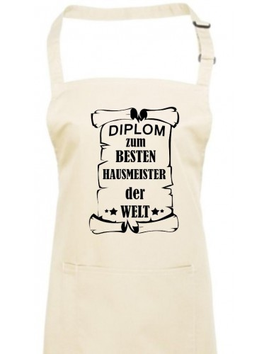 Kochschürze,  Diplom zum besten Hausmeister der Welt
