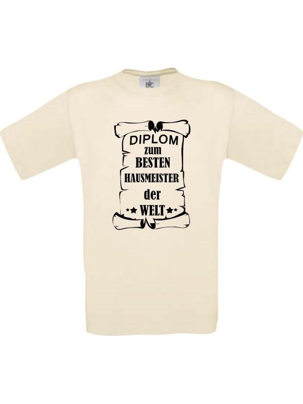 Männer-Shirt Diplom zum besten Hausmeister der Welt