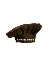 Kochmütze Chef de Partie Service Kochen Backen