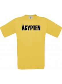 Kinder T-Shirt Fußball Ländershirt Ägypten, gelb, 104