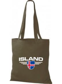Stoffbeutel Island, Wappen, Land, Länder