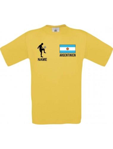 Kinder-Shirt Fussballshirt Argentinien mit Ihrem Wunschnamen bedruckt