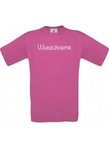 Kinder-Shirt individuell mit Ihrem Wunschtext versehen kult, pink, 104