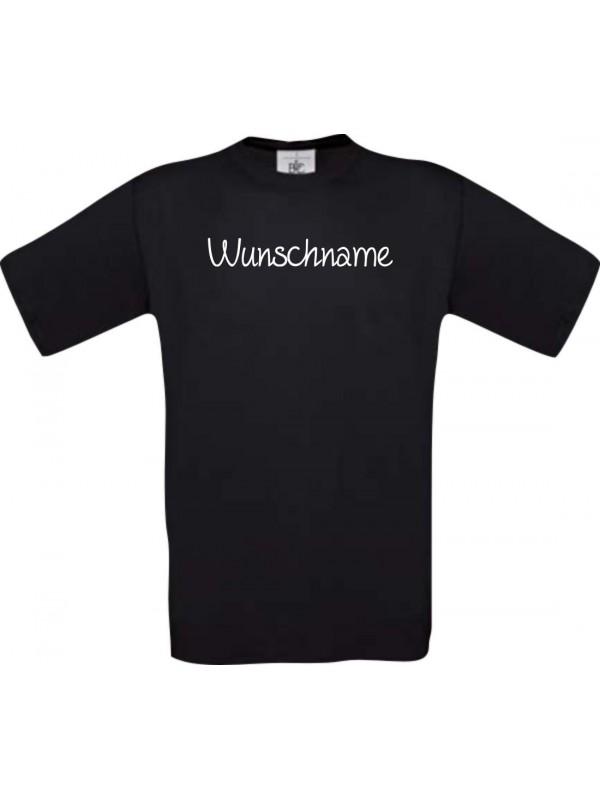 Kinder-Shirt individuell mit Ihrem Wunschtext versehen kult, schwarz, 104