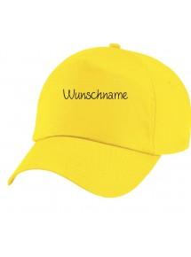 Original 5-Panel Basecap, mit deinem Wunschtext versehen, gelb