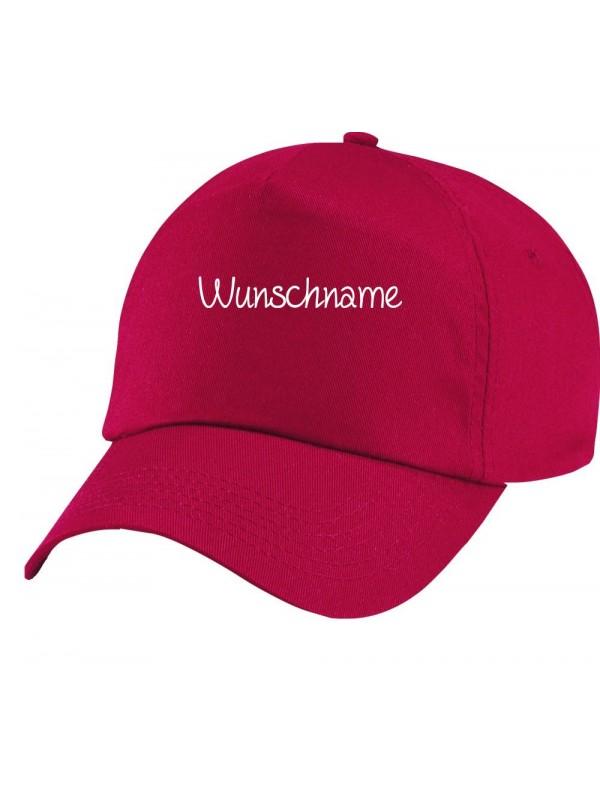 Original 5-Panel Basecap, mit deinem Wunschtext versehen, rot