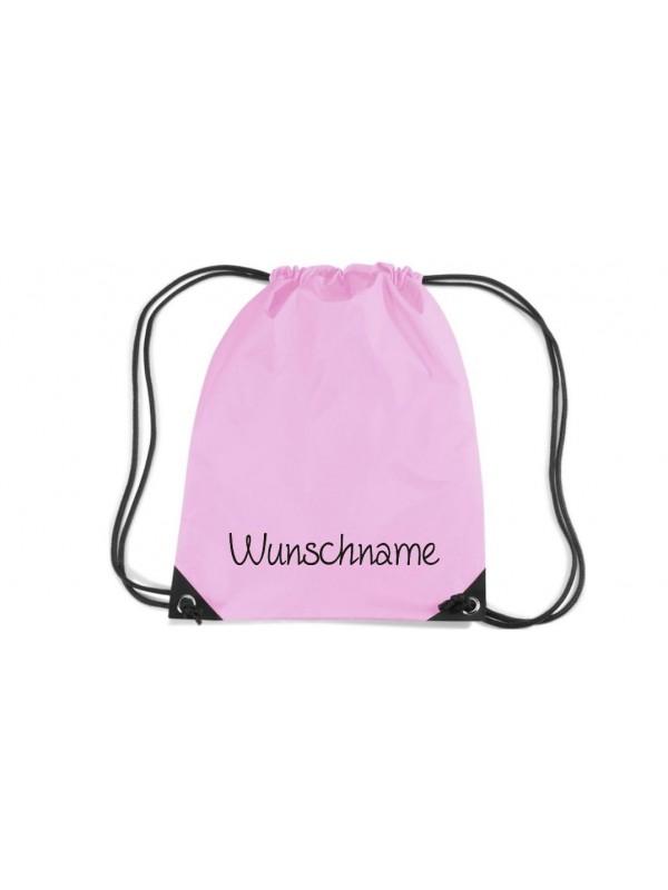 Premium Gymsac mit Ihrem Wunschtext versehen, rosa