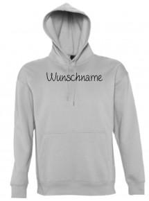 Kapuzen Sweatshirt individuell mit Ihrem Wunschtext versehen kult, sportsgrey, L