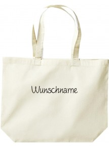 große Einkaufstasche, Shopper mit Ihrem Wunschtext versehen