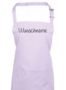 Kochschürze, mit deinem Wunschtext versehen, lilac