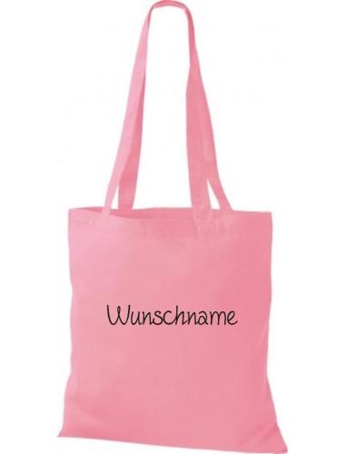 Stoffbeutel mit Ihrem Wunschtext versehen, rosa