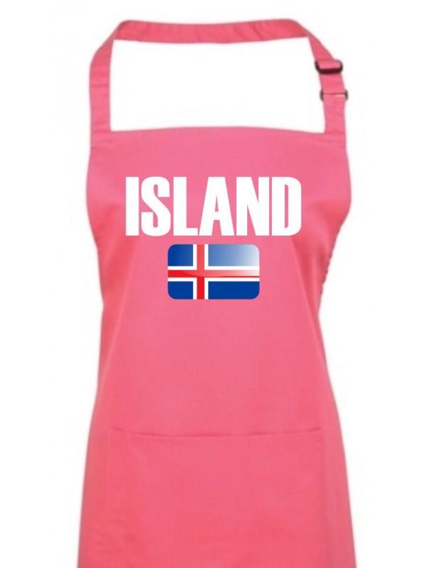 Lady T-Shirt Island Land Länder Fussball