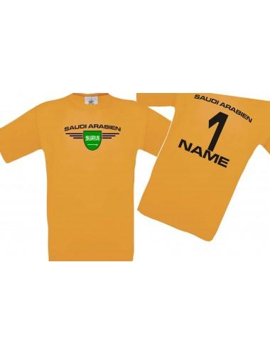 Kinder-Shirt Saudi Arabien, Wappen mit Wunschnamen und Wunschnummer, Land, Länder