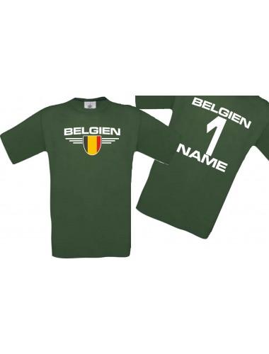 Man T-Shirt Belgien Ländershirt mit Ihrem Wunschnamen und Ihrer Wunschzahl, Fußball
