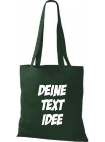 Jute Stoffbeutel mit Wunschtext oder Logo bedruckt, grün