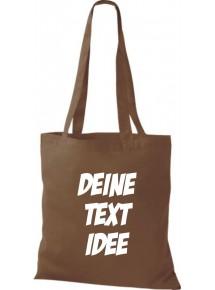 Jute Stoffbeutel mit Wunschtext oder Logo bedruckt, hellbraun