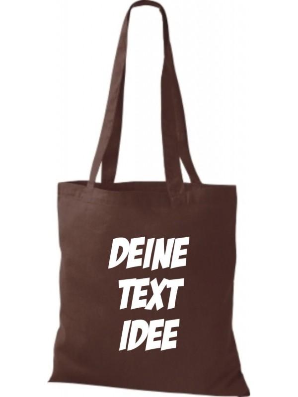 Jute Stoffbeutel mit Wunschtext oder Logo bedruckt, braun