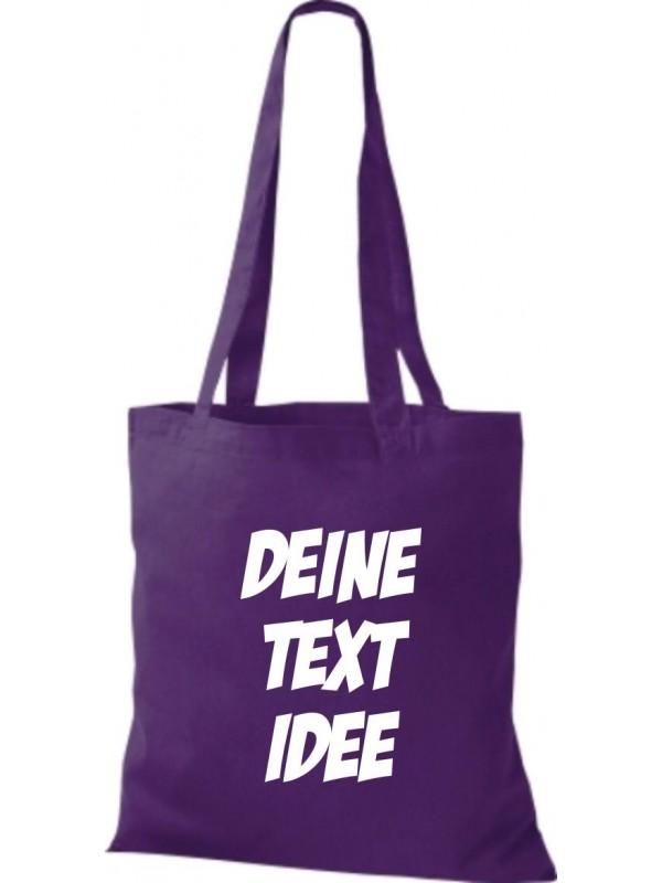 Jute Stoffbeutel mit Wunschtext oder Logo bedruckt, lila