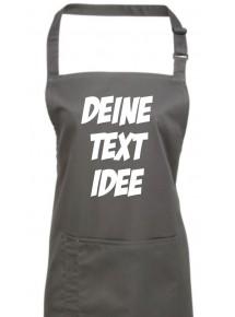 Back Koch Schürze, mit deinem Wunsch Text, Logo oder Motive bedruckt, darkgrey