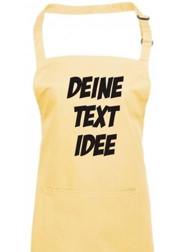 Back Koch Schürze, mit deinem Wunsch Text, Logo oder Motive bedruckt, lemon