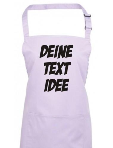 Back Koch Schürze, mit deinem Wunsch Text, Logo oder Motive bedruckt, lilac