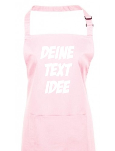 Back Koch Schürze, mit deinem Wunsch Text, Logo oder Motive bedruckt, pink