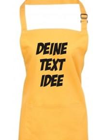 Back Koch Schürze, mit deinem Wunsch Text, Logo oder Motive bedruckt, sunflower