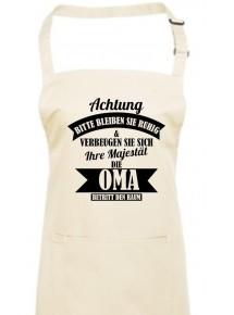 Kochschürze, Achtung Bitte bleiben Sie ruhigIhre Majestät die Oma