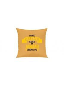 Sofa Kissen, Wahre LEGENDEN haben im JANUAR Geburtstag, Farbe gelb