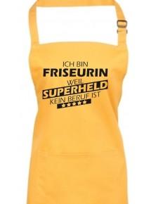Kochschürze, Ich bin Friseurin, weil Superheld kein Beruf ist