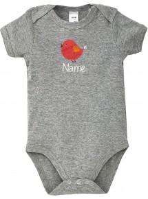 Baby Body mit tollen Motiven inkl Ihrem Wunschnamen Spatz