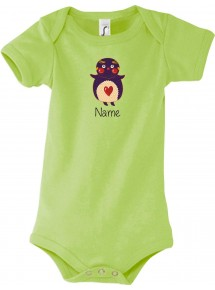Baby Body mit tollen Motiven inkl Ihrem Wunschnamen Pinguin
