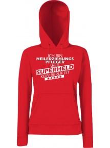 Lady Kapuzensweatshirt Ich bin Heilerziehungspfleger, weil Superheld kein Beruf ist, Größen XS-XXL