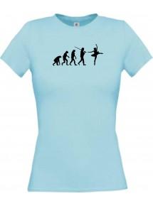 Lady T-Shirt  Evolution Ballerina, Ballett, Balletttänzer/in, Verein