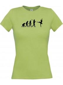 Lady T-Shirt  Evolution Ballerina, Ballett, Balletttänzer/in, Hobby