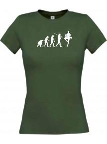 Lady T-Shirt  Evolution Ballerina, Ballett, Balletttänzer/in, Wettkampf