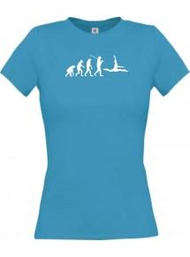 Lady T-Shirt  Evolution Ballerina, Ballett, Balletttänzer/in, Retro