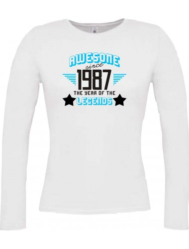 Lady-Longshirt Awesome since 1987 the Year of the Legends,